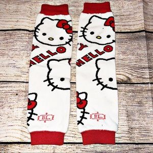 Hello Kitty Baby Leg Warmers Red and White